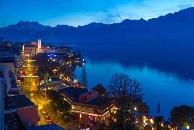 Blaue Stunde in Montreux