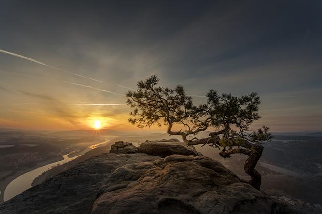 Stimmungsvolle Szenen im zerklüfteten Elbsansteingebirge