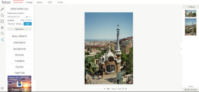 Fotorbearbeitung Barcelona