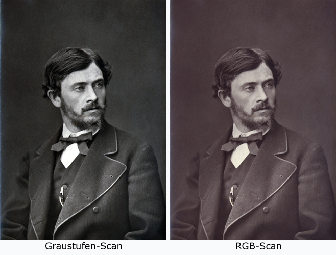 Schwarz/Weiß Fotos scannen
