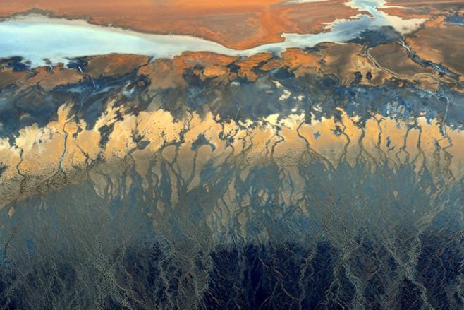 Kaliforniens Wüsten von oben