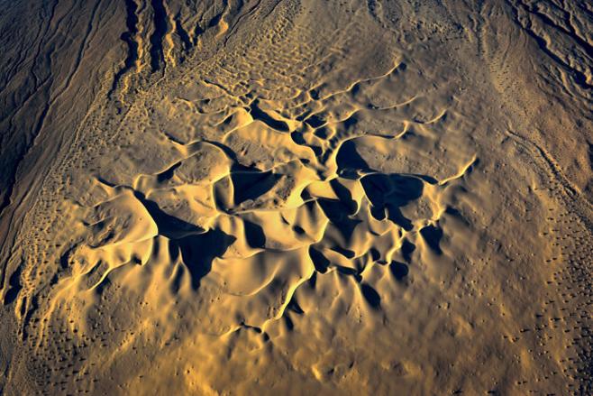 Kaliforniens Wüsten von obenn