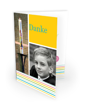 Dankeskarte zur Konfirmation/Kommunion