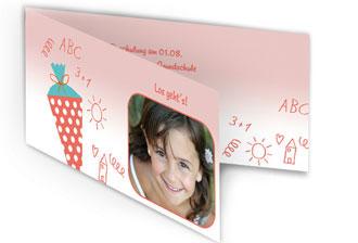 einladungskarten zur einschulung online selbst gestalten, Einladung