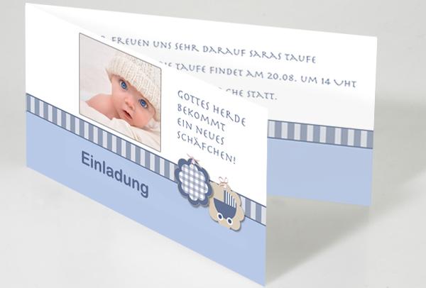 einladungskarte zur taufe online selbst gestalten, Einladung